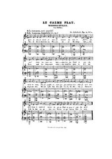 Meeres Stille, D.216 Op.3 No.2: Klavierauszug mit Singstimmen by Franz Schubert