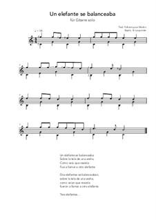 Un elefante se balanceaba: For guitar solo (C Major) by folklore