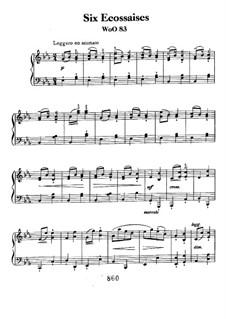 Ecossaise in Es-Dur, WoO 83: Für Klavier by Ludwig van Beethoven