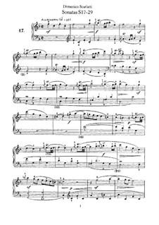 Sonaten für Cembalo (oder Klavier): Anhang Nr.17-29 by Domenico Scarlatti