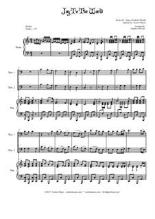 Freue dich Welt: Trombone duet and piano by Georg Friedrich Händel