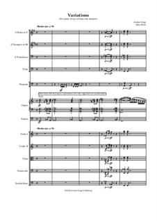 Variations (for organ, brass, strings and timpani): Variations (for organ, brass, strings and timpani) by Jordan Grigg