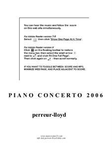 Piano Concerto (Phantasma Appassionata), Op.6: Piano Concerto (Phantasma Appassionata) by Keith Perreur-Lloyd