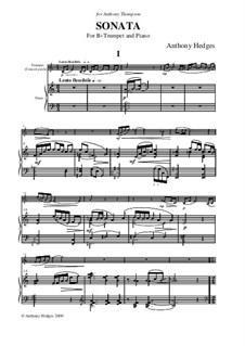 Trumpet Sonata, Op.137: Partitur by Anthony Hedges