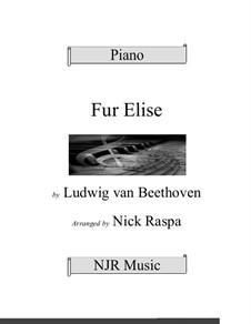 Für Elise, für Klavier, WoO 59: Easy elementary version by Ludwig van Beethoven