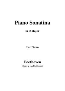 Drei Sonatinen für Klavier: Sonatina No.3 in D Major by Ludwig van Beethoven