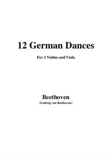 Zwölf deutsche Tänze, WoO 8: For two violins and viola by Ludwig van Beethoven