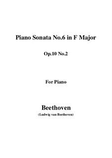 Sonate für Klavier Nr.6, Op.10 No.2: Für einen Interpreten by Ludwig van Beethoven