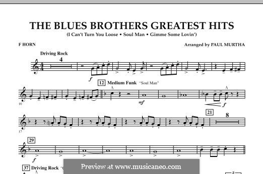 The Blues Brothers Greatest Hits: F Horn part by David Porter, Isaac Hayes, Muff Winwood, Otis Redding, Spencer Davis, Steve Winwood