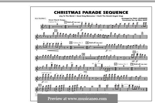 Christmas Parade Sequence: Flute/Piccolo part by folklore