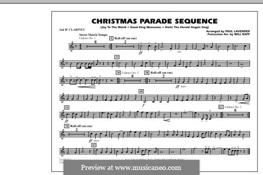 Christmas Parade Sequence: Bb Clarinet 2 part by folklore