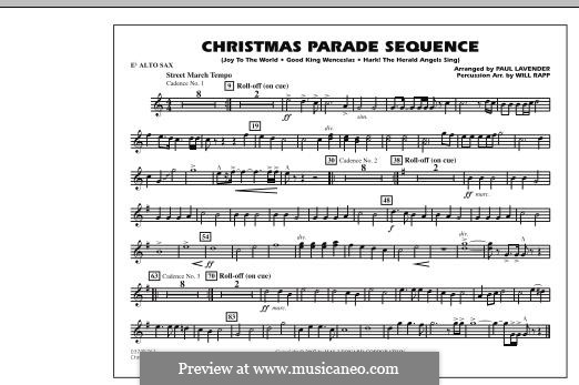 Christmas Parade Sequence: Eb Alto Sax part by folklore