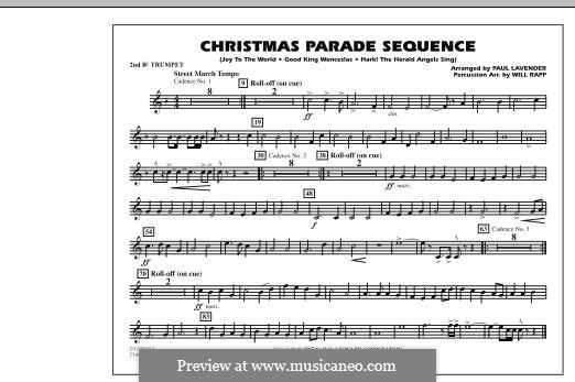 Christmas Parade Sequence: 2nd Bb Trumpet part by folklore