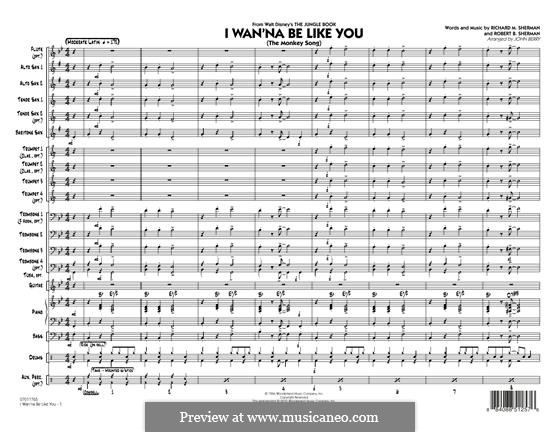 I Wanna Be Like You (The Monkey Song): Conductor score (full score) arr. John Berry by Richard M. Sherman, Robert B. Sherman
