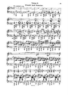 Dalibor, B.133 T.96: Act I. Předešlí, král Vladislav, for piano by Bedřich Smetana