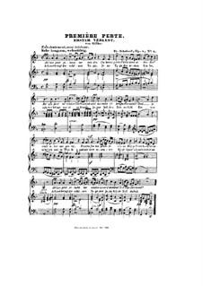 Erster Verlust, D.226 Op.5 No.4: Klavierauszug mit Singstimmen by Franz Schubert