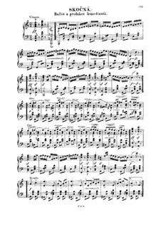 Drei Tänze: Skočná, für Klavier by Bedřich Smetana