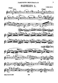 Konzert für Klarinette und Orchester Nr.1 in c-Moll, Op.26: Version für Klarinette und Klavier by Louis Spohr