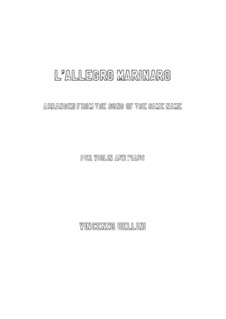 L'allegro marinare: Für Violine und Klavier by Vincenzo Bellini