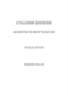 L'allegro marinare: Für Cello und Klavier by Vincenzo Bellini