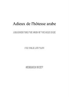 Adieux de l'hôtesse arabe: Für Violine und Klavier by Georges Bizet