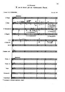 Sieben Romanzen, TH 103 Op.47: No.7 Was I Not a Little Blade of Grass in the Meadow, for orchestra by Pjotr Tschaikowski