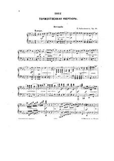 1812. Festliche Ouvertüre, TH 49 Op.49: Für Klavier, vierhändig by Pjotr Tschaikowski