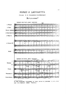 Vollständiger Ouvertüre: Für Singtimmen und Orchester by Pjotr Tschaikowski