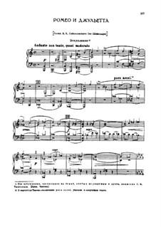 Vollständiger Ouvertüre: Für Stimmen und Klavier by Pjotr Tschaikowski