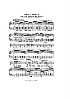 Auf dem Wasser zu singen, D.774 Op.72: F-Dur by Franz Schubert