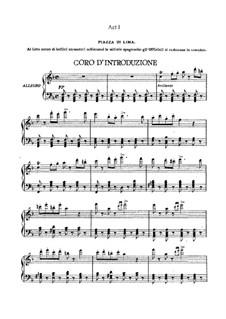 Alzira: Akt I. Bearbeitung für Stimmen und Klavier by Giuseppe Verdi