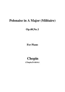 Polonäsen, Op.40: No.1 for piano by Frédéric Chopin