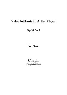 Walzer, Op.34: No.1 in A Flat Major by Frédéric Chopin