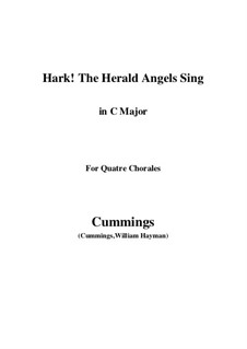 Klavierauszug mit Singstimmen: For quatre chorales (C Major) by Felix Mendelssohn-Bartholdy