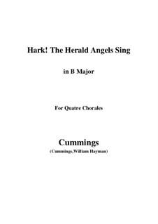 Klavierauszug mit Singstimmen: For quatre chorales (B Major) by Felix Mendelssohn-Bartholdy