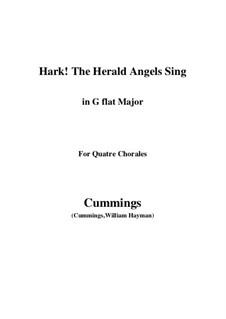 Klavierauszug mit Singstimmen: For quatre chorales (G flat Major) by Felix Mendelssohn-Bartholdy