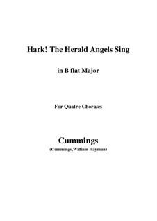 Klavierauszug mit Singstimmen: For quatre chorales (B flat Major) by Felix Mendelssohn-Bartholdy