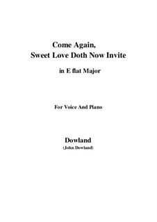 Come Again: Für Stimme und Klavier (E Flat Major) by John Dowland