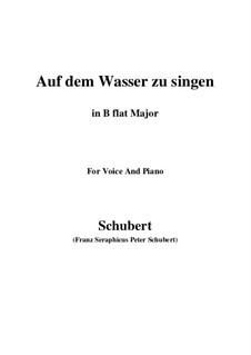 Auf dem Wasser zu singen, D.774 Op.72: Für Stimme und Klavier (B Flat Major) by Franz Schubert
