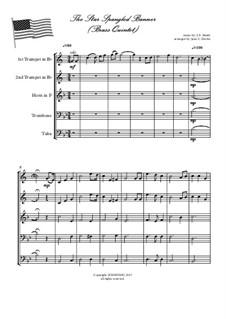 The Star Spangled Banner (National Anthem of The United States): Für Blechblasquintett by John Stafford Smith