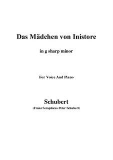 Das Mädchen von Inistore, D.281: G sharp minor by Franz Schubert
