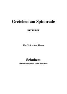 Gretchen am Spinnrade, D.118 Op.2: Für Stimme und Klavier (F minor) by Franz Schubert