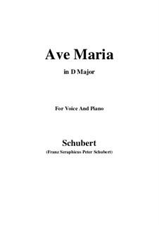 Ave Maria, D.839 Op.52 No.6: Für Stimme und Klavier (D Major) by Franz Schubert