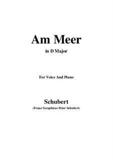Nr.12 Am Meer: Für Stimme und Klavier (D Major) by Franz Schubert