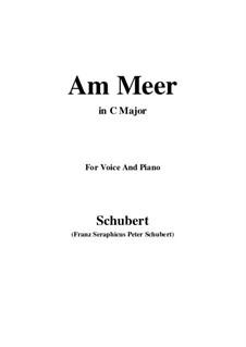 Nr.12 Am Meer: Für Stimme und Klavier (C Major) by Franz Schubert