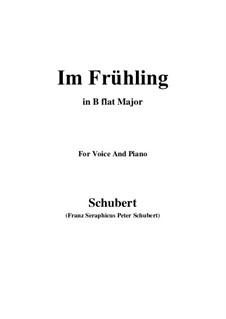 In Spring, D.882 Op.101 No.1: Für Stimme und Klavier (B Flat Major) by Franz Schubert