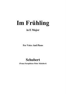 In Spring, D.882 Op.101 No.1: Für Stimme und Klavier (E Major) by Franz Schubert