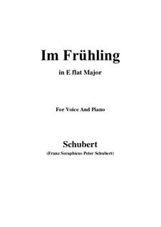 In Spring, D.882 Op.101 No.1: Für Stimme und Klavier (E Flat Major) by Franz Schubert