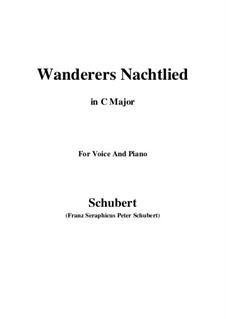 Wanderers Nachtlied II, D.768 Op.96 No.3: Für Stimme und Klavier (C Major) by Franz Schubert