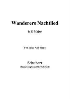 Wanderers Nachtlied II, D.768 Op.96 No.3: Für Stimme und Klavier (D Major) by Franz Schubert